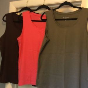 Chico's Bundle of 3 Sleeveless Tees Sz 3/XL